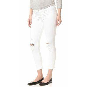 NWT J Brand Mama J Maternity White Skinny Jeans De